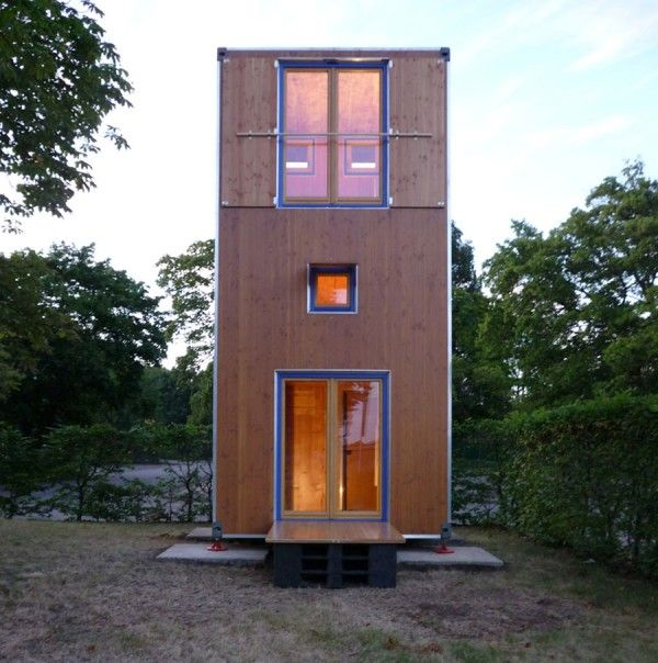 Homebox 1 Portable Three Story Tiny House_Micro Home With A Base Footprint  Of Only 75 Square