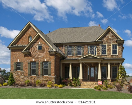 model luxury home exterior front view clouds column porch stock photo from the largest library of royalty free images only at shutterstock