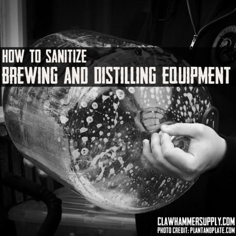 Properly Cleaning and sanitizing your equipment may be the most overlooked aspect of making great beer (and high proof alcohol)– especially among rookie homebr