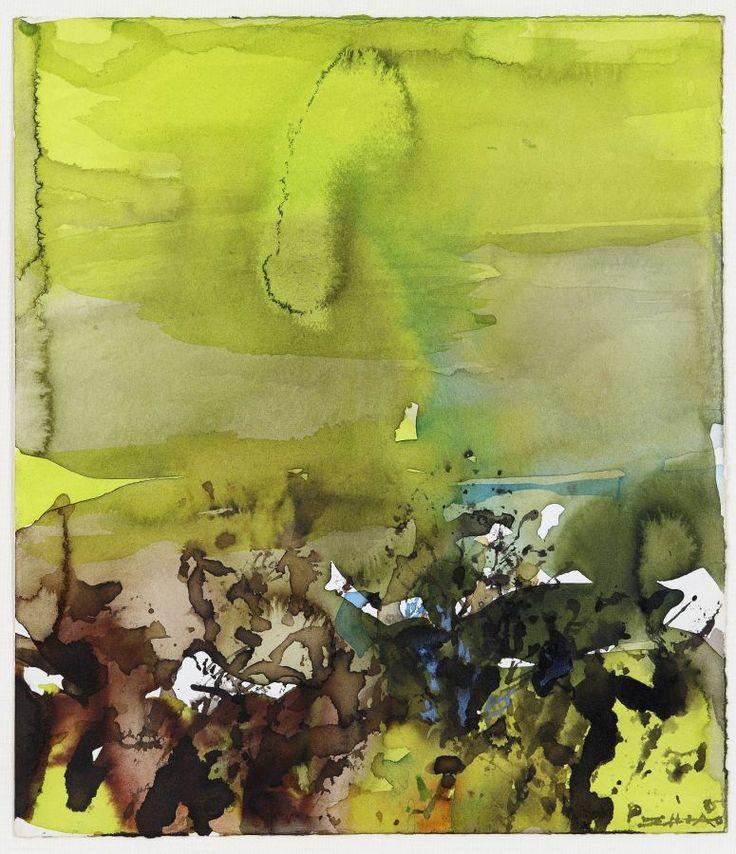 Galerie F. Hessler - Art Collection Luxembourg - Artiste - Zao Wou-Ki Aquarelle et Encre sur papier 1985