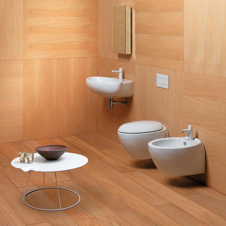 Toalett Clas+ mini Vegghengt, for små toalett rom.