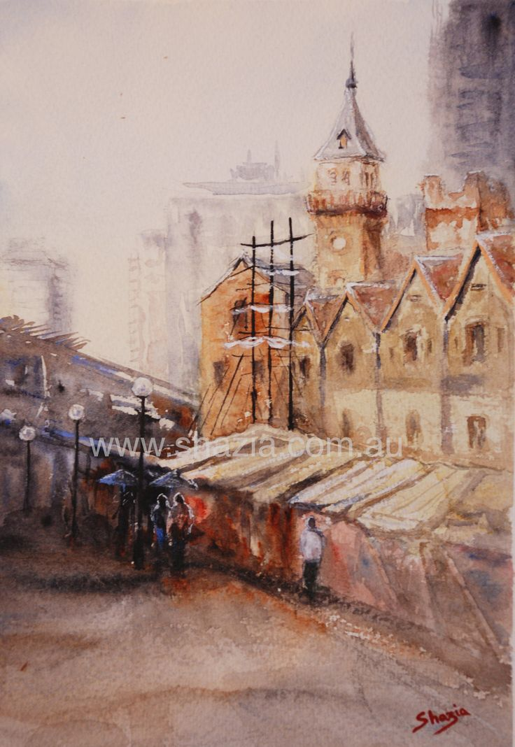 Painted this en plein air in 2014 The Rocks, Sydney watercolour