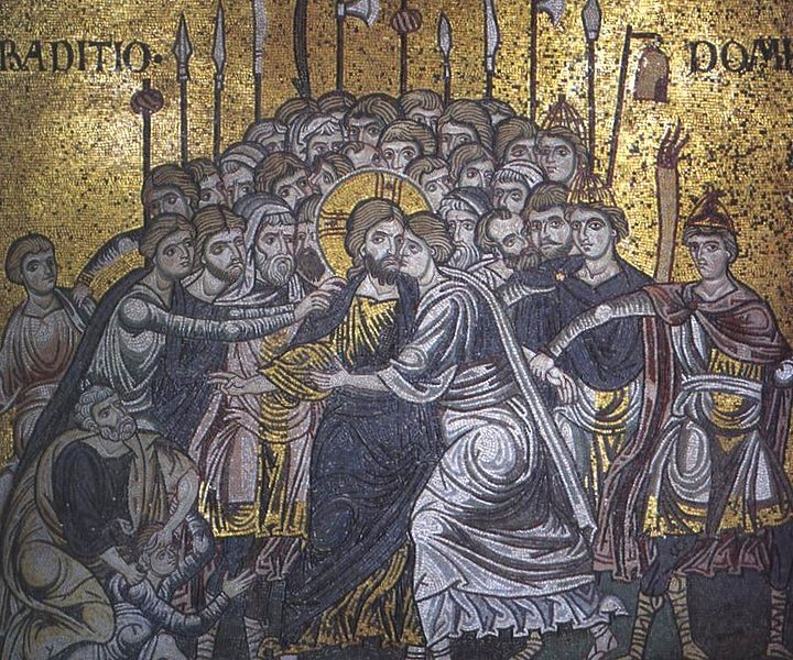 Judas's kiss - mosaic in Monreale Cathedral by Sibeaster | Sicilia, Italia