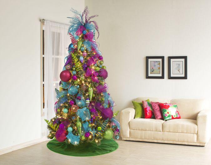 M s de 25 ideas nicas sobre pinos de navidad decorados en - Decoracion para arboles navidenos ...
