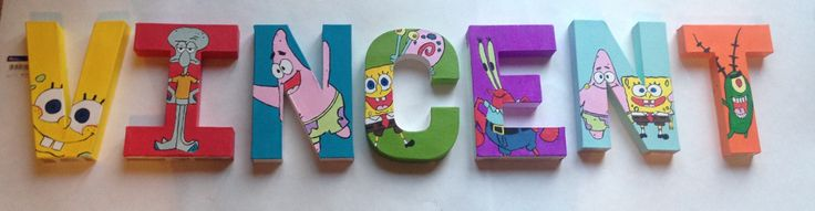 Spongebob name letters