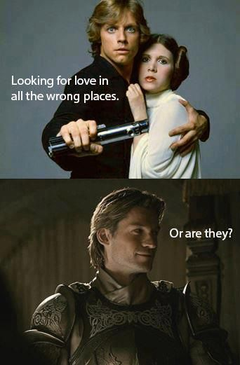 looking for love in all the wrong places? Jaime considers Star Wars.