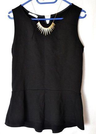 Kup mój przedmiot na #vintedpl http://www.vinted.pl/damska-odziez/bluzki-bez-rekawow/9506803-baskinka-bluzka-czarna-40-l