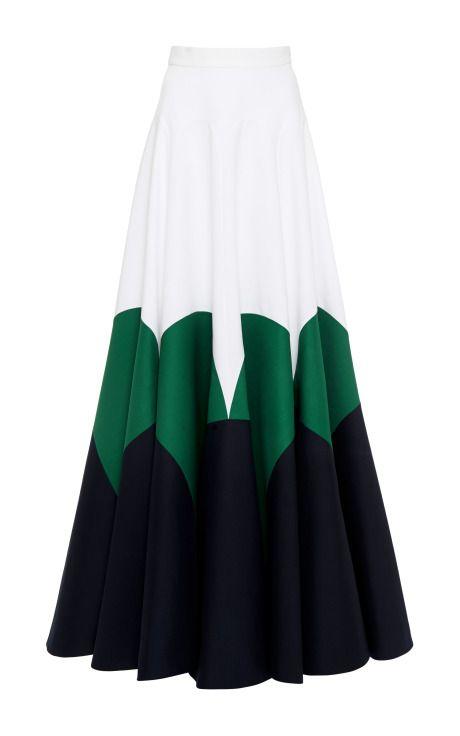 Dark Navy Blue Double Poplin Skirt by DELPOZO for Preorder on Moda Operandi