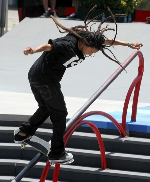 Young Nyjah Huston with da dreads