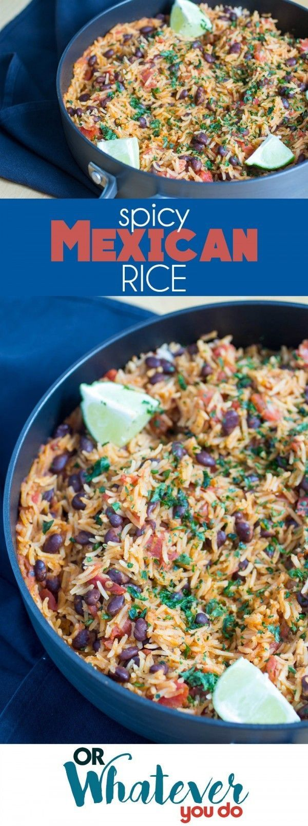 My Spicy One-Pot Mexican Rice is a quick and easy side dish that is packed with flavor, and uses some simple dump and go ingredients that'll leave you wondering how you ever lived without this one!