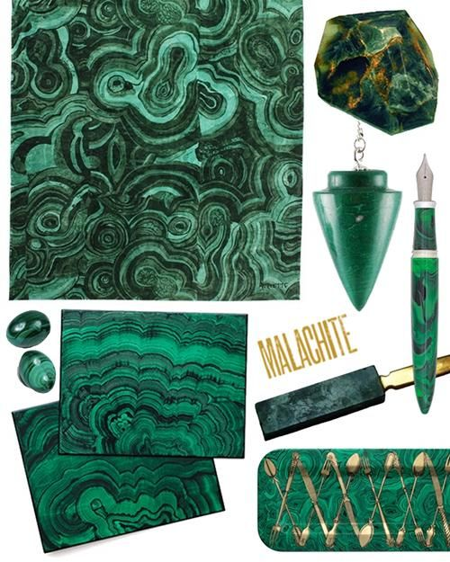 Malachite Madness from Design Sponge - Grace Bonney. Sparkly rocks and decorating = Mel Heaven.