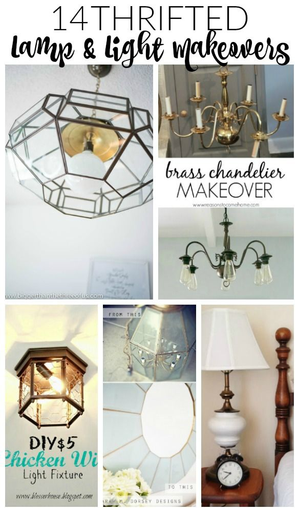 14 thrifted lamp and light makeovers