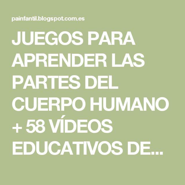 JUEGOS PARA APRENDER LAS PARTES DEL CUERPO HUMANO + 58 VÍDEOS EDUCATIVOS DEL CUERPO HUMANO