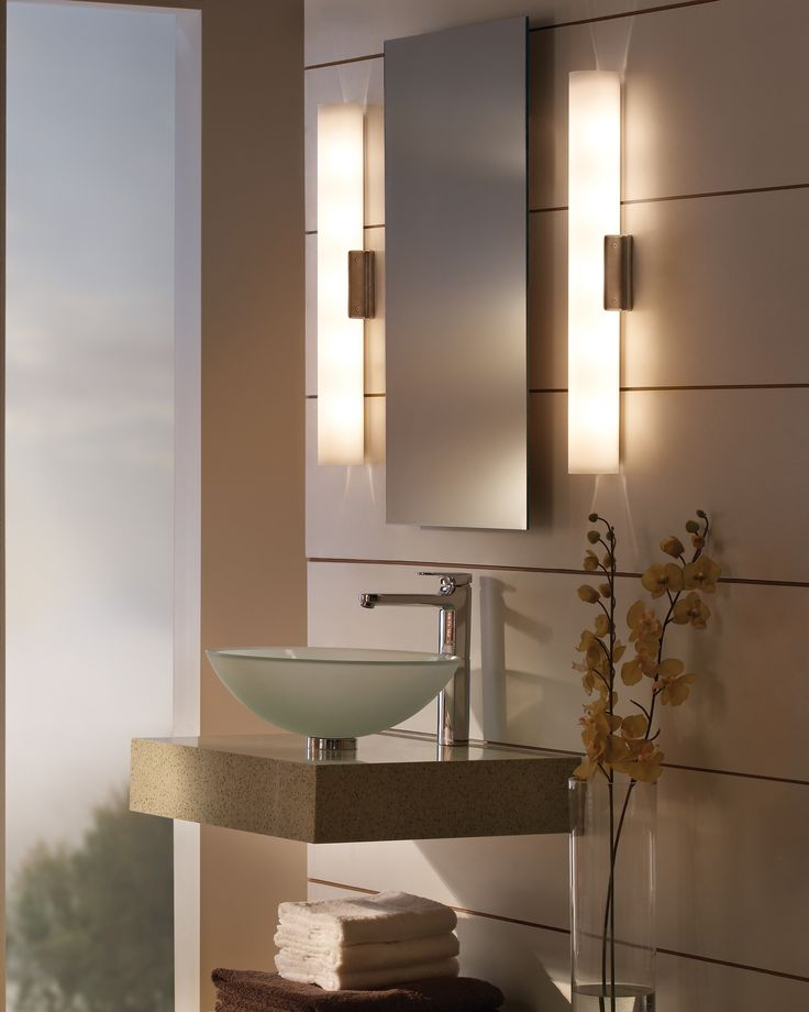96 best bathroom lighting ideas images on pinterest for Bathroom mirror with lights