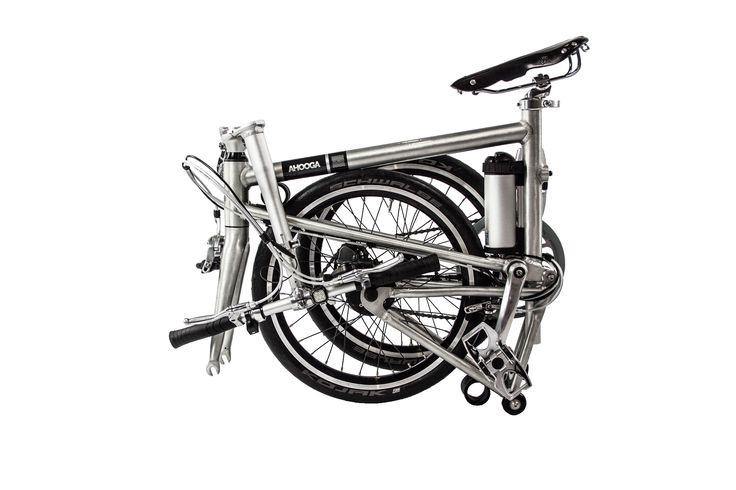 Ahooga electric folding bike