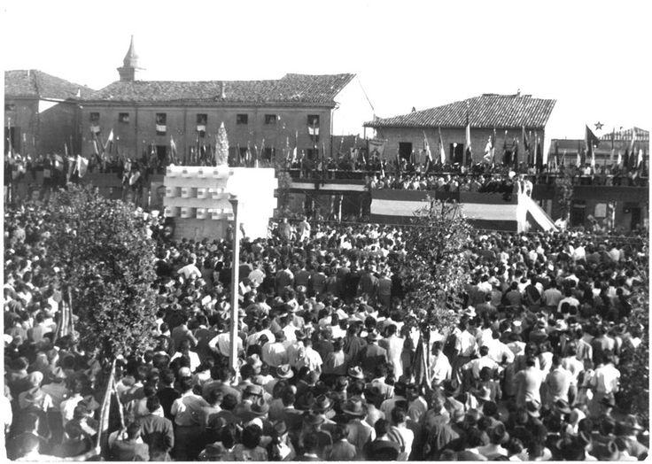 1950 – 4 giugno – Massa Lombarda- Inaugurazione monumento ai caduti in Piazza Umberto Ricci