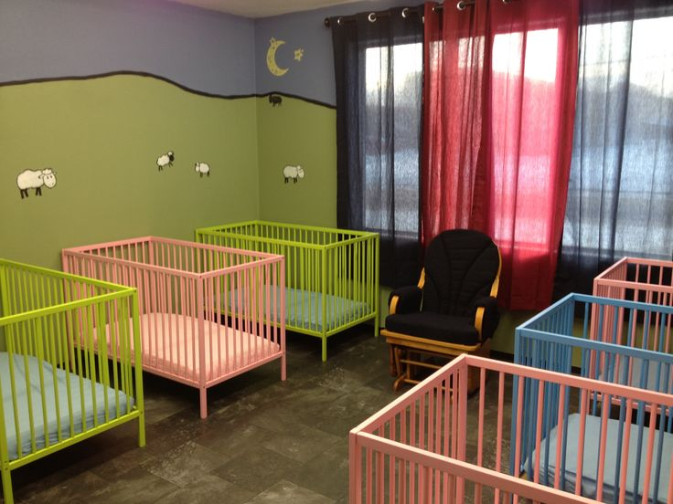Baby nap room. | Home daycare, Infant room daycare ...