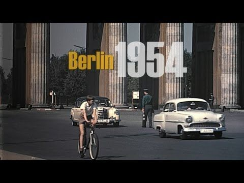 ▶ Berlin 1957 color - Berlin Ost & West vor dem Mauerbau - Berlin East & West without wall (7:00)