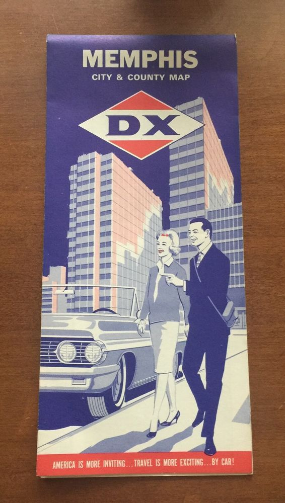 Vintage 1965 DX Oil Gas Memphis City And County Map  | eBay