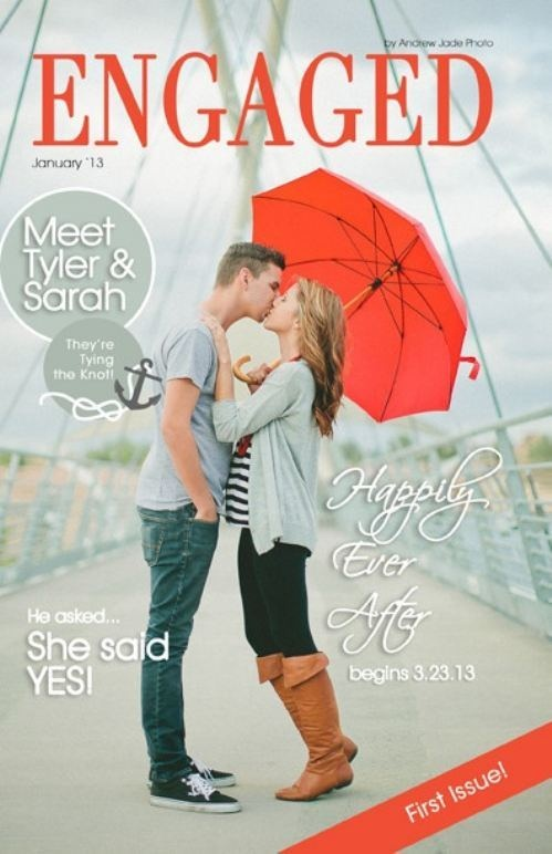 Save the date magazine cover. Awesome!