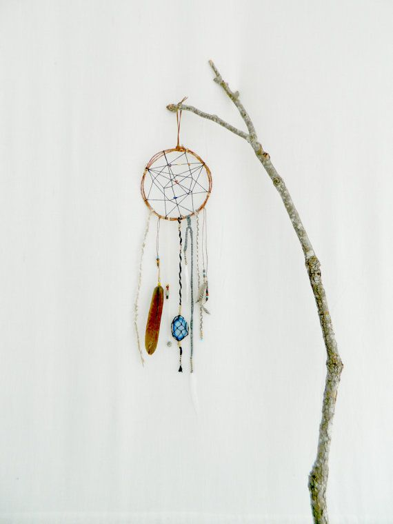 BOHO DREAM CATCHER . tribal naive rustic natural by bohemianbabes