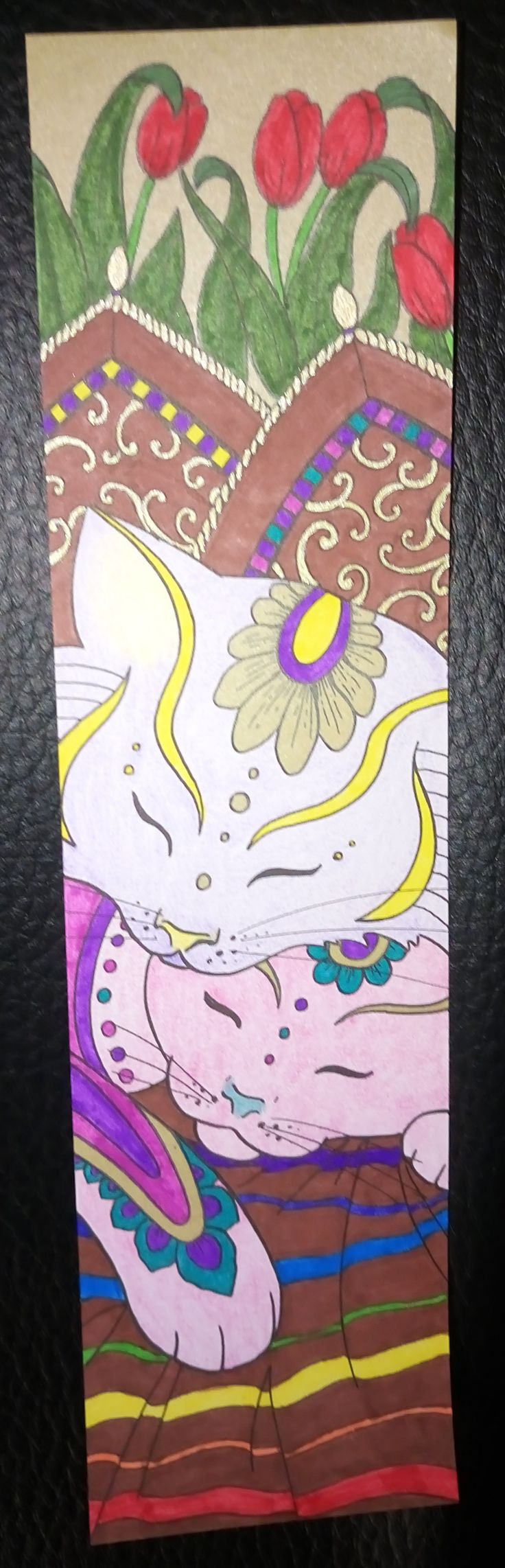 Colouring Mes Marque pages a colorier chats Abrazo Gatos