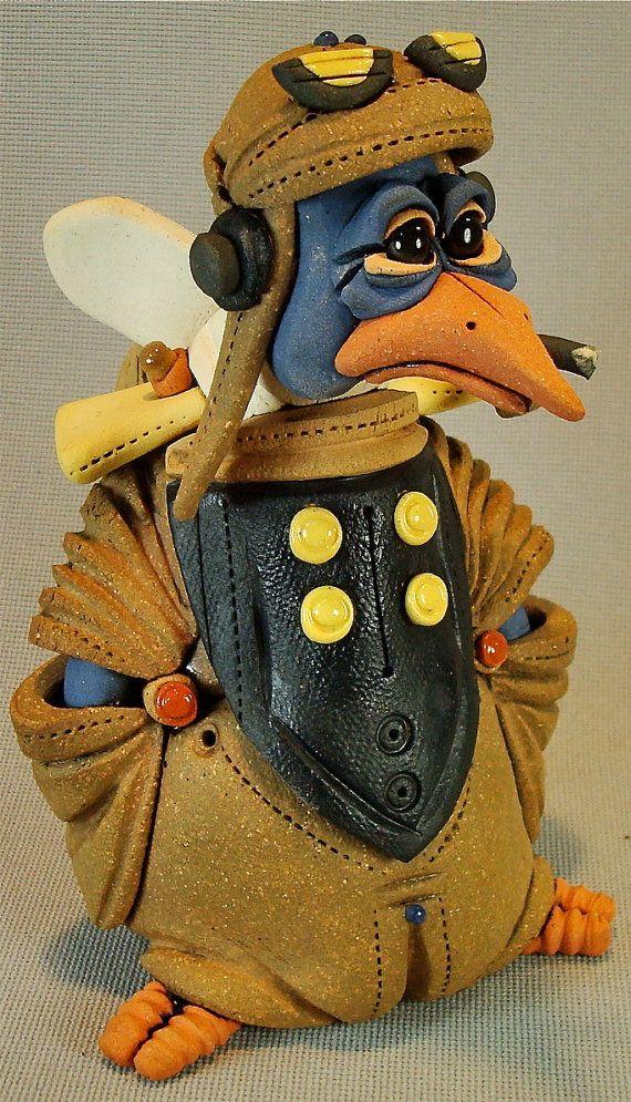 Aviator Bird free shipping by RexBenson on Etsy, $68.00