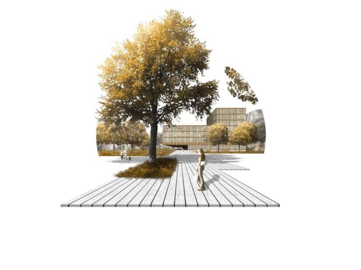 I like the photoshop collage to show the space it is for Greeninc landscape architecture
