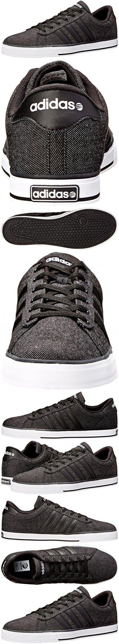 Adidas NEO Men's SE Daily Vulc Lifestyle Skateboarding Shoe,Black/Black/White,10.5 M US