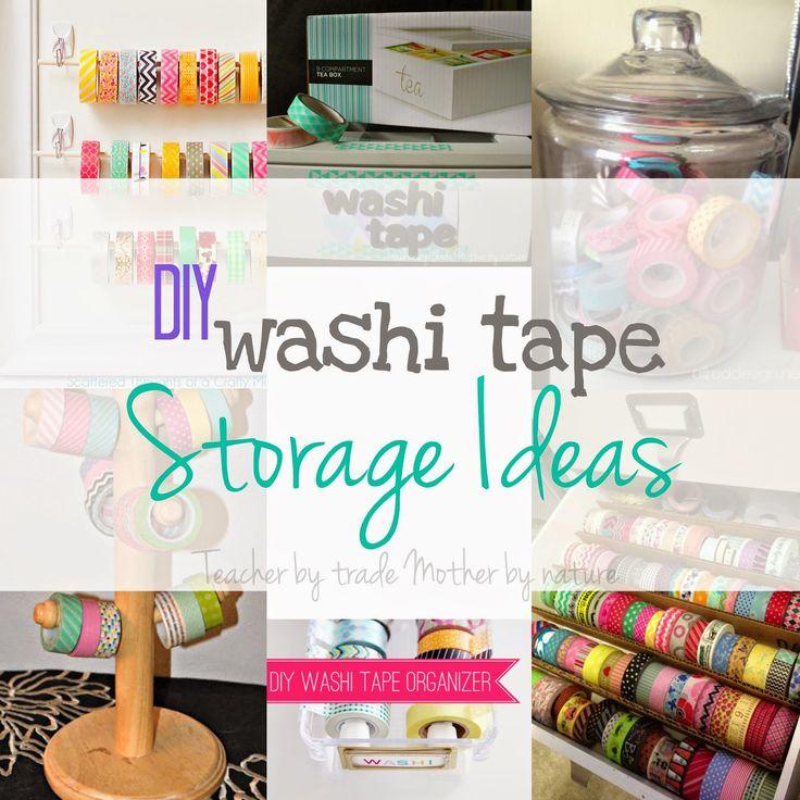 die besten 25 diy washi tape storage ideen auf pinterest. Black Bedroom Furniture Sets. Home Design Ideas