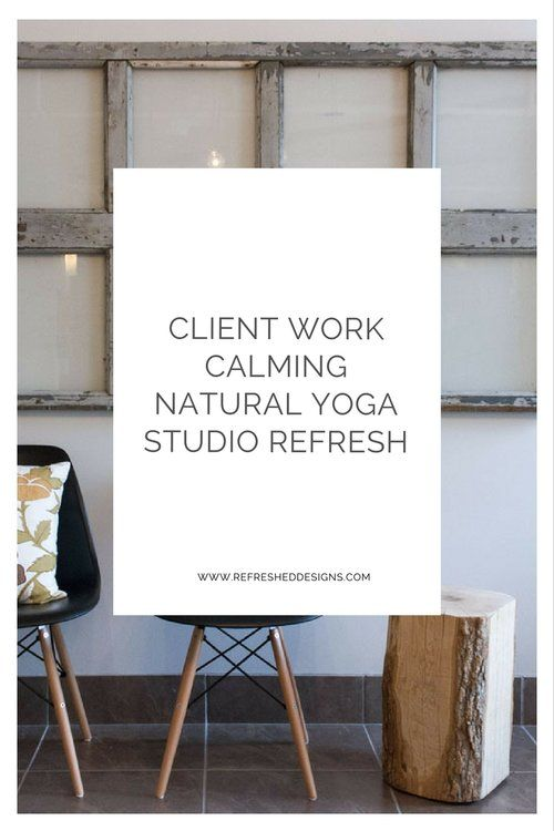 calming natural yoga studio design