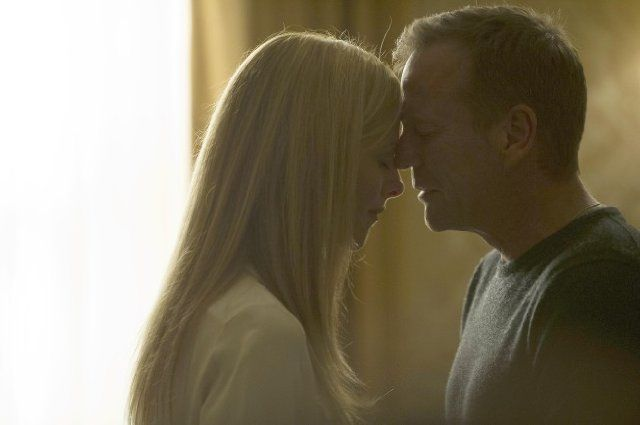 Titles: 24: Live Another Day, 3:00 p.m.-4:00 p.m. Names: Kiefer Sutherland, Kim Raver Characters: Jack Bauer, Audrey Raines