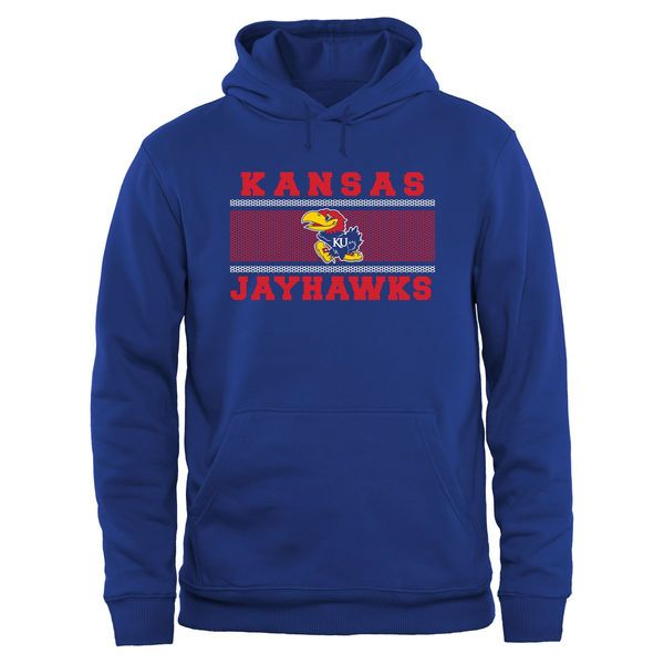 Kansas Jayhawks Big & Tall Micro Mesh Sweatshirt - Royal - $54.99