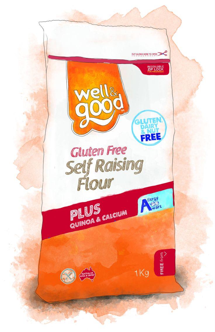 Well and Good Gluten Free Self Raising Flour #wellandgood #glutenfree www.wellandgood.com.au