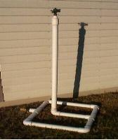 PVC sprinkler holder, no instructions, just picture