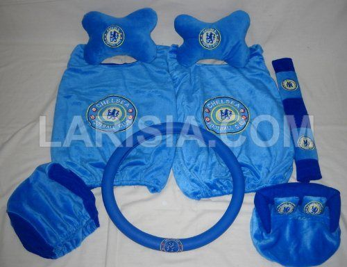 Bantal Mobil 6 in 1 Chelsea terdiri dari: sepasang cover jok kursi (2 pcs), sepasang cover jok kepala (2 pcs), sepasang bantal tulang (2 pcs), sepasang cover safety belt (2 pcs), 1 pcs tempat tissue, 1 pcs cover steer. Kode Barang: 530122CS.  Harga: RP. 189.000,-. Tertarik? Silahkan order di Toko Online Larisia: http://larisia.com/product/0/7/Bantal-Mobil-6-in-1-Chelsea - Ada pertanyaan? Silahkan hubungi kami: http://larisia.com/contactus.php