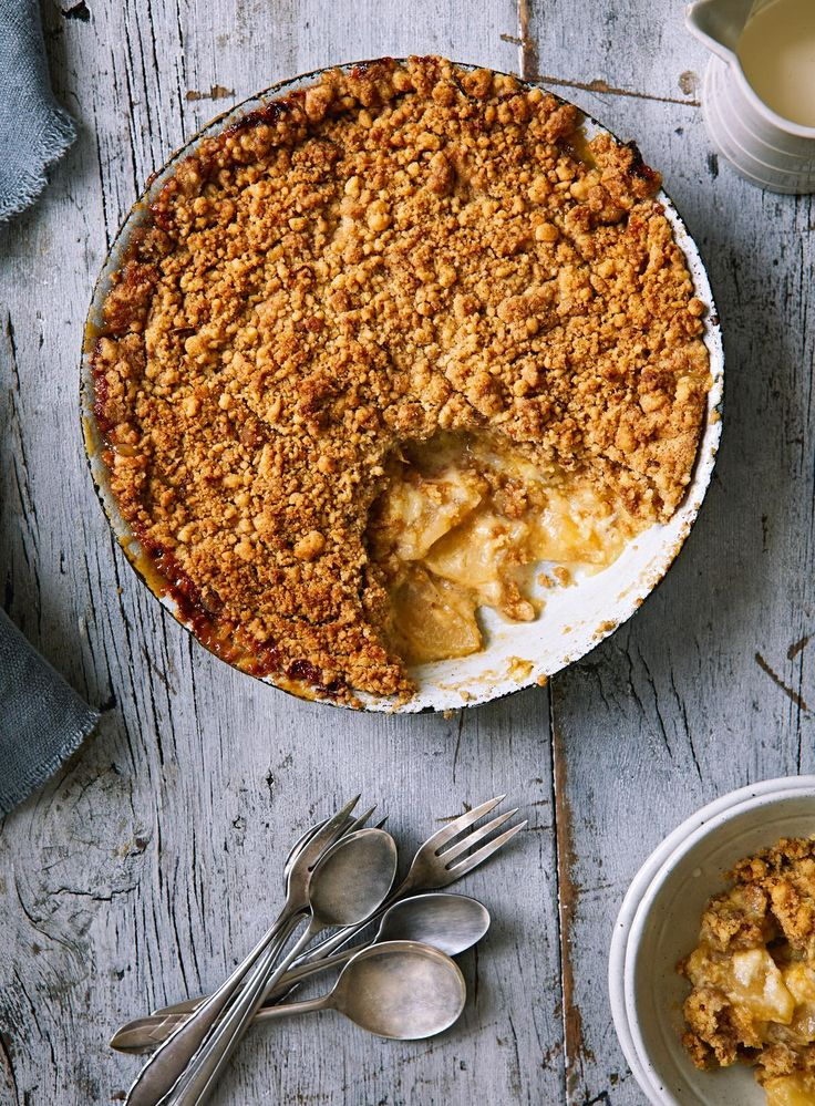 Apple and Custard Crumble - The Happy Foodie