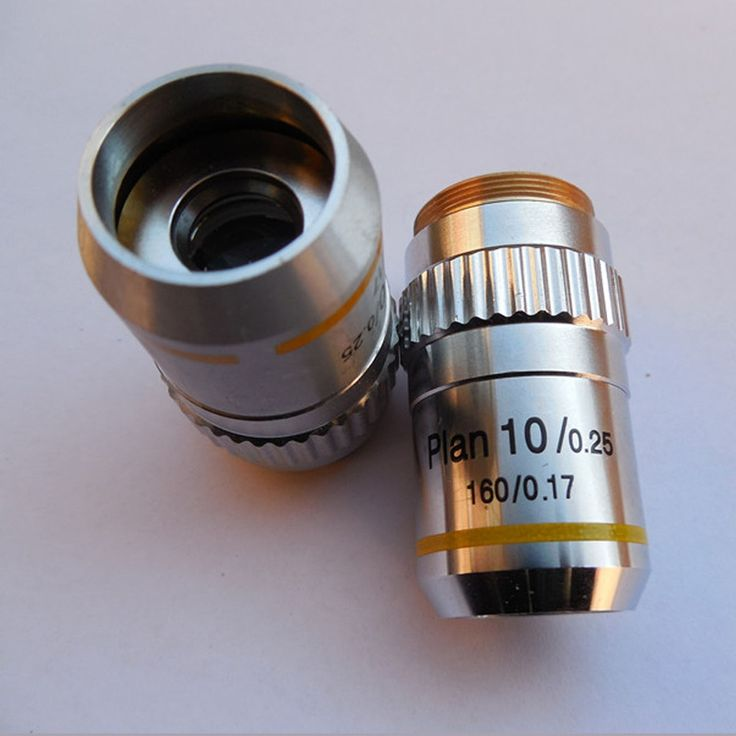 High Quality 10X  Lens Microscope Objective  Metal Microscope Accessory &Part  Plan Achromatic Lens Free Shipping