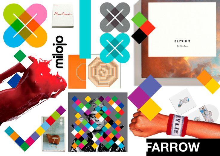Compilatie Farrow Farrow zijn stijl is eerder vernieuwend en modern. De ontwerper weet op kleurrijke wijze logo's, producten, catalogen, kledij, ... tot stand te brengen. Ik vind deze ontwerper enorm goed omdat hij op de juiste manier tekst, kleur en beelden te combineren. De blokjes zijn een beetje zijn 'trademark' omdat hij daar verschillende projecten omtrend heeft gedaan.