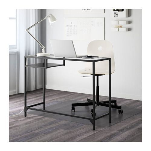 VITTSJÖ Laptop table  - IKEA I have this. Makes a great desk for a small space... or entry table... or console... or anything. 40 bucks, can't be beat.
