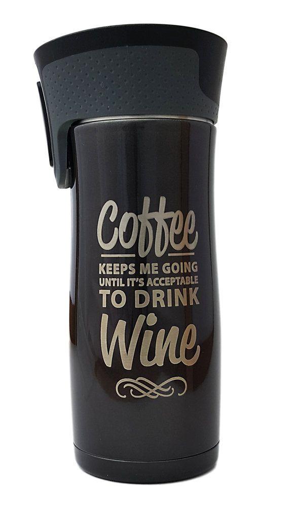 Personalized Travel Mug  Contigo Coffee Mug  16 oz by LaserGraphic