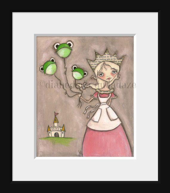Print of my original fairy tale painting  Charmed by DUDADAZE, $10.00  ©dianeduda/dudadaze