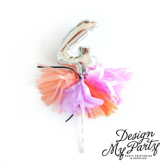 7 Number Foil Balloon Cake Topper with by DesignMyPartyShop