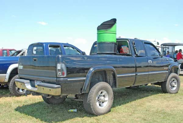 Diesel trucks with stacks