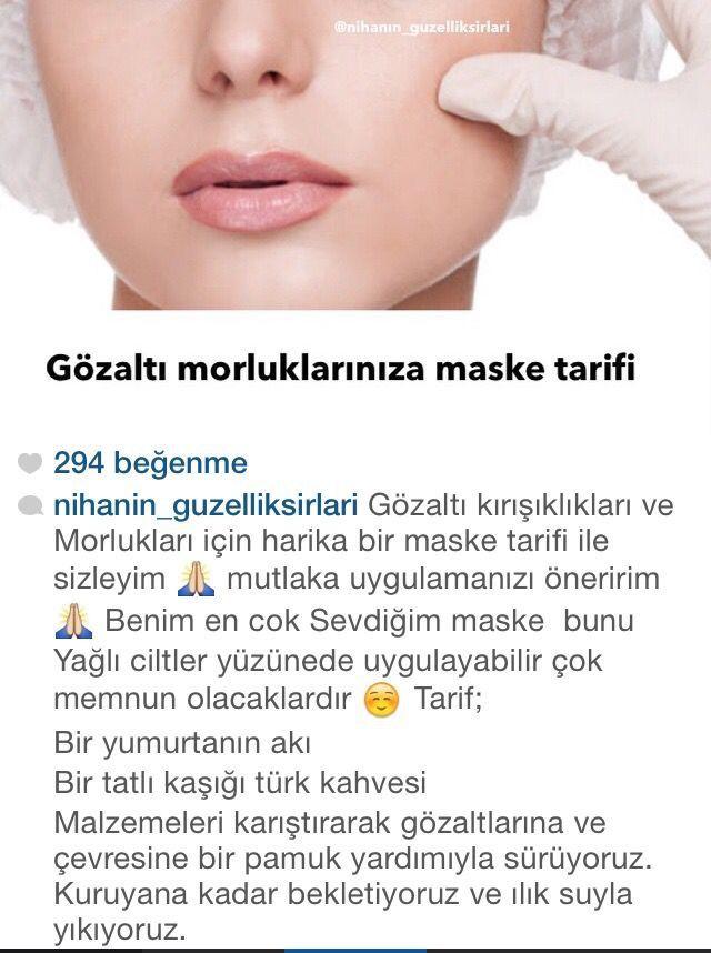 Göz aktı morluklarına maske tarifi! #ciktbakımı #gözaltımorluğu