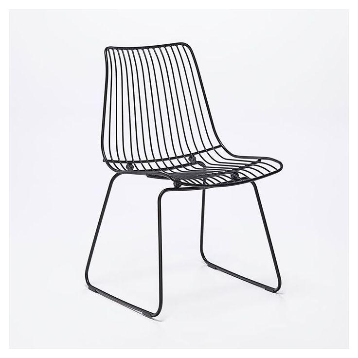 Chaise design indoor outdoor noire ACCO Houe