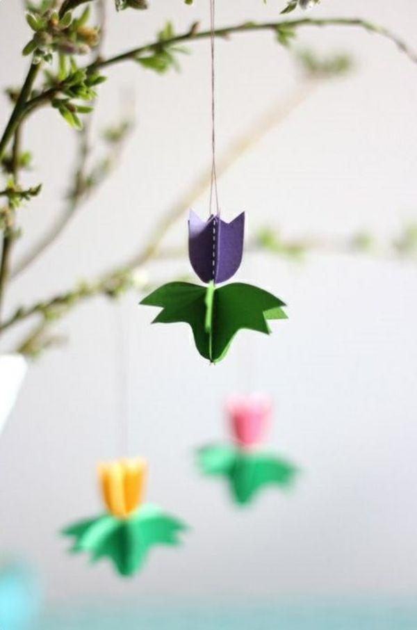 schöne dekoideen diy tulpen frühlingsblumen basteln