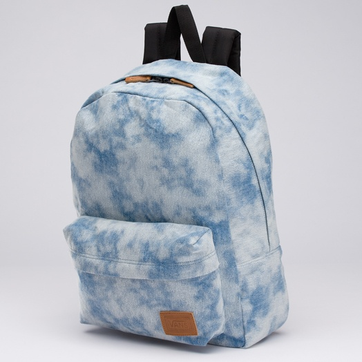 $38 blue and white backpack