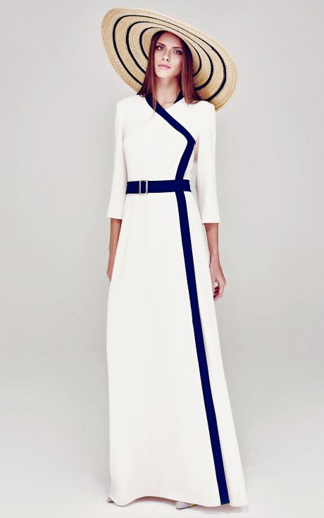 Wrap Front Column Dress by A La Russe for Preorder on Moda Operandi