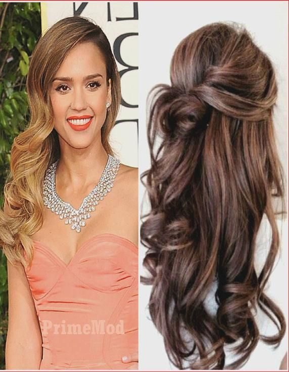 Pinned Up Long Curly Hairstyle Ideas For Girls Wedding Hairstyles Thin Hair Medium Hair Styles Long Hair Updo